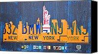 New York City Skyline License Plate Art