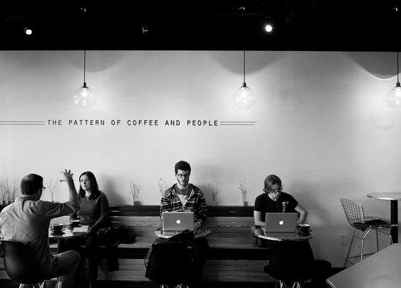 Coffee shop and internet