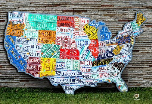Absolutely Huge United States License Plate Map