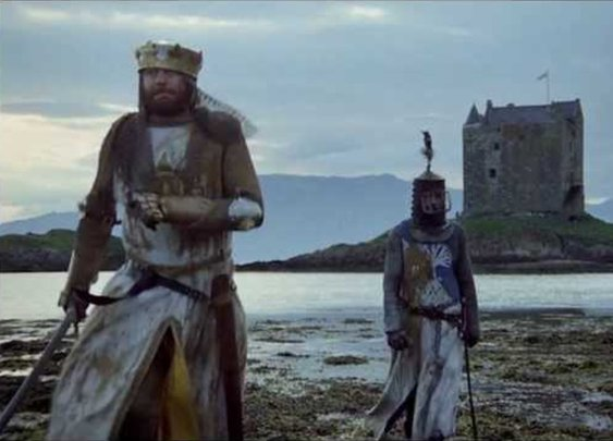 The Monty Python and the Holy Grail trailer recut into a serious flim