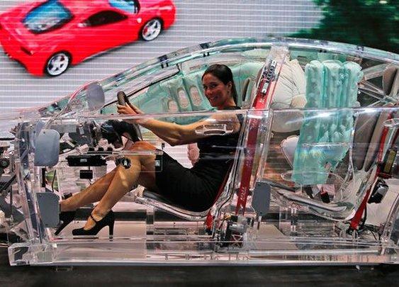 Transparent car spotted at Frankfurt Motor Show