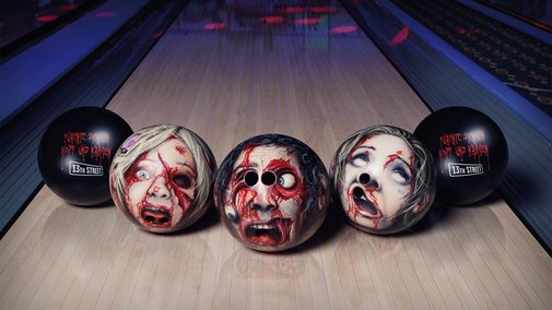 Zombie Head Bowling Balls | DudeIWantThat.com