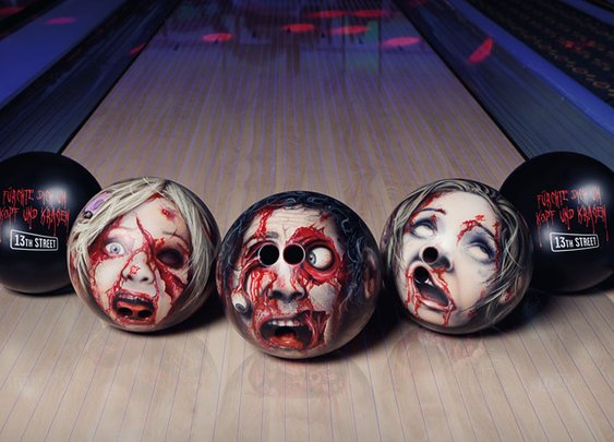 Zombie Head Bowling Balls | DudeIWantThat.com