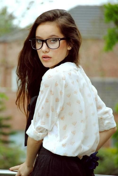 doesn't she look mighty fine in those glasses. / Glasses on imgfave