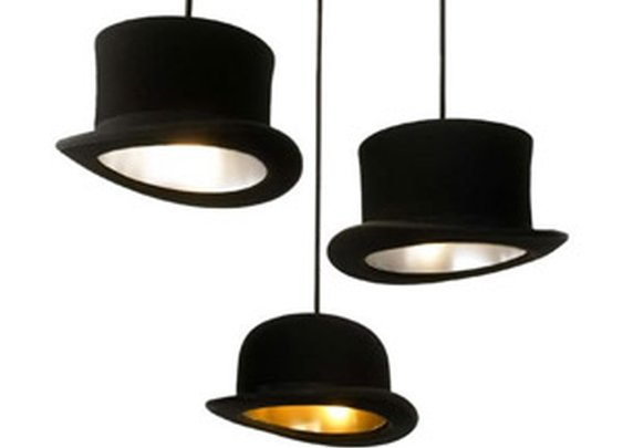 Jeeves And Wooster - Authentic Bowler and Top Hat Pendant Lights - The Green Head