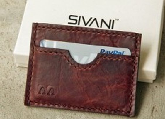 Leather Credit Card Wallet for Men, Handmade, Pocket, Slim, Personalized