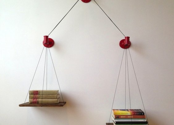 Balance Bookshelf | The Coolector