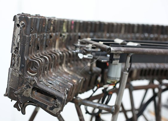 Mechanized Orchestra of Instruments Built from Decommissioned Weapons