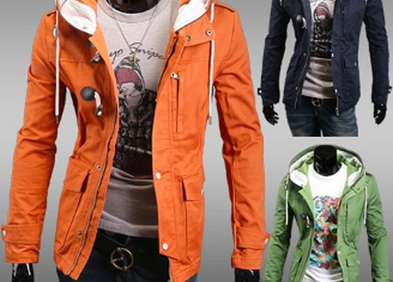 Men's Hooded Mid-Length Jacket
