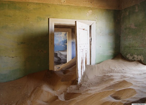 What a Sand-Filled Deserted Mining Town Looks Like