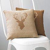 Stags Head cushion