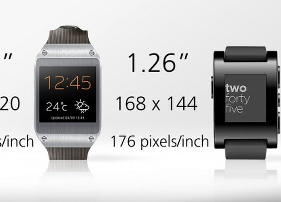 Samsung Galaxy Gear vs. Pebble smartwatch
