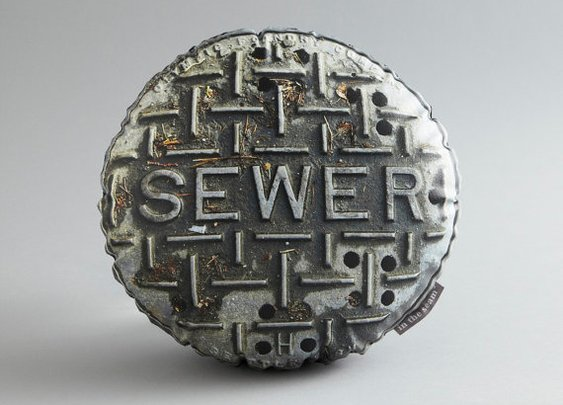 Seattle Sewer Cover Printed Pillow by intheseam on Etsy