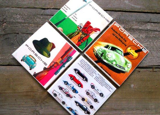 Vintage Porsche Gear for your home bar