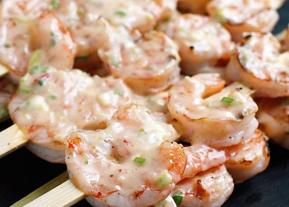 Bangin' Grilled Shrimp Skewers