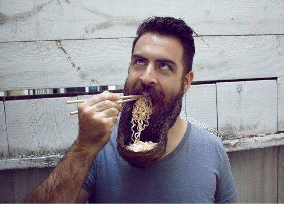 Beard food catcher