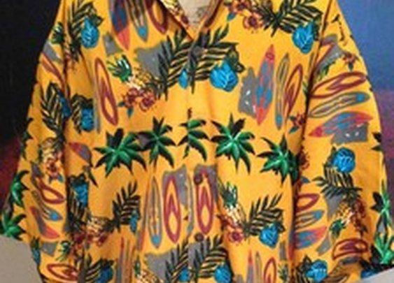 Reservoir Worldwide Hawaiian Shirt XXL Gold Tropical Surfboard Camp Lounge Nice | eBay