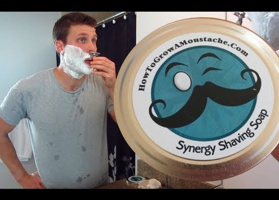 HTGAM Synergy Shaving Soap - Shave Review - YouTube