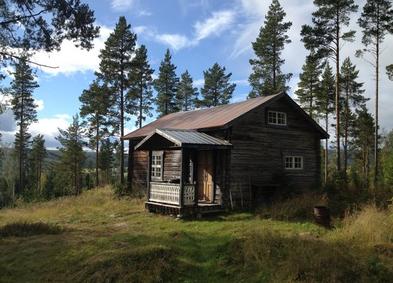 Rustic cabin in Ångermanland, Sweden