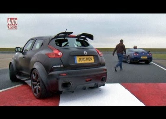 Nissan Juke-R vs GT-R track test - Auto Express - YouTube