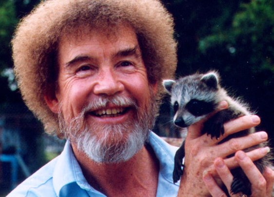 Bob Ross and a Baby Raccoon