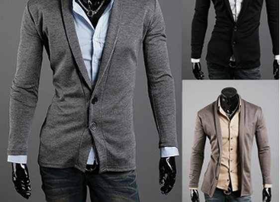 Men's Slim Fit Shawl Collar Cardigan
