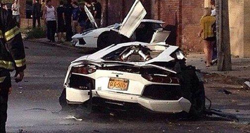 Lamborghini Aventador Gets Split in Half in Brooklyn - Classy Bro