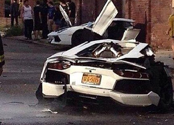 Lamborghini Aventador Gets Split in Half in Brooklyn - Classy Bro