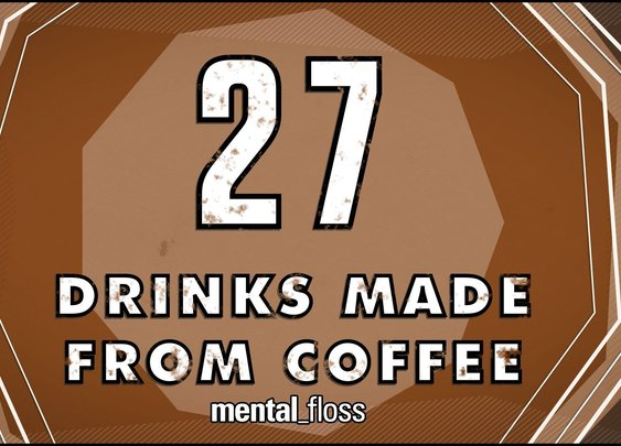 Various Drinks Made From Coffee