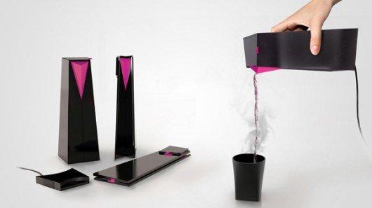 Novel kettle folds flat to slide into your back pocket