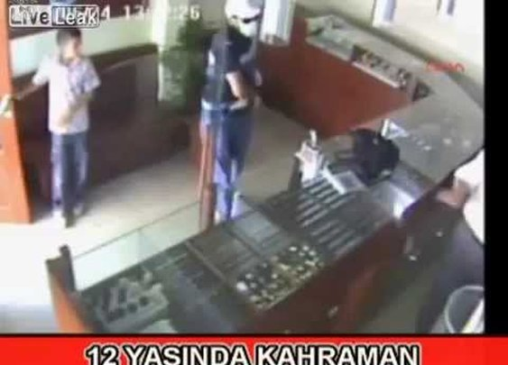 Kid Thwarts Armed Robber