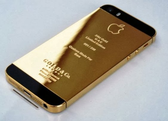 Luxurious Gold Plated iPhone 5S