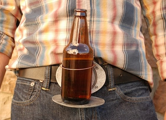Beer Holding Belt Buckle