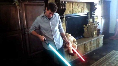 Darth Baby's Lightsaber - YouTube
