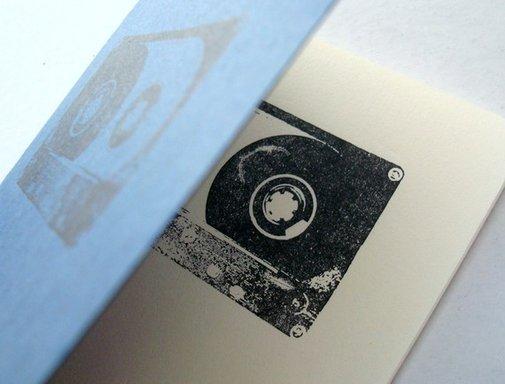 Black Cassette Tape blue pocket moleskine by blackbirdandpeacock