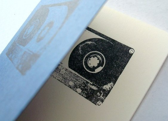 Black Cassette Tape blue pocket moleskine by blackbirdandpeacock