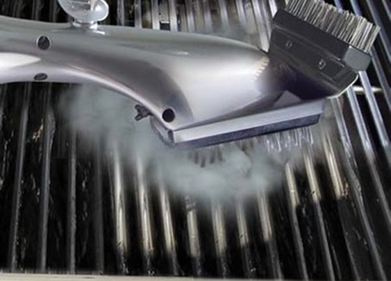 Steam Cleaning Grill Brush - No more running out of gas from leaving it on to clean.