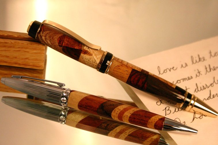 His and hers wood pen set in menagerie of woods by Hope & Grace Pens