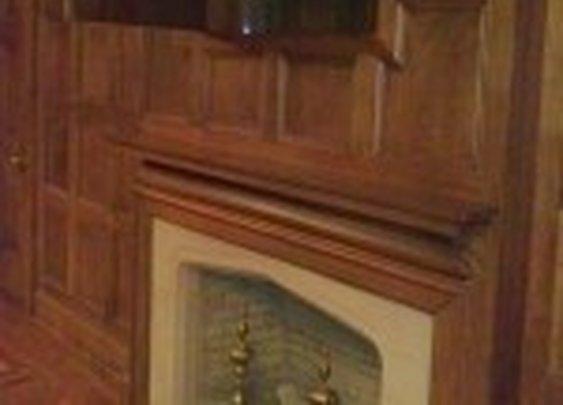 Secret Cabinet Behind Panel Above Fireplace | StashVault