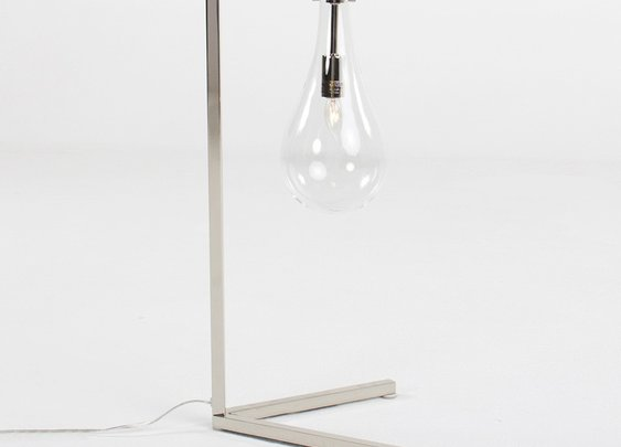 SABINE IRON/GLASS DESK LAMP
