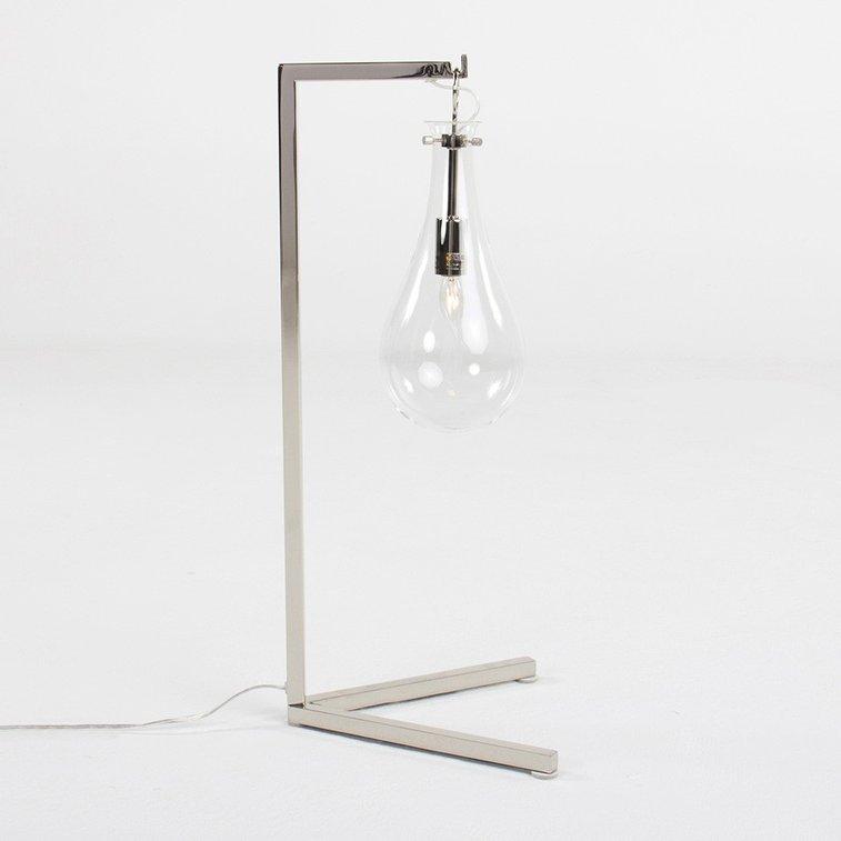 SABINE IRON/GLASS DESK LAMP
