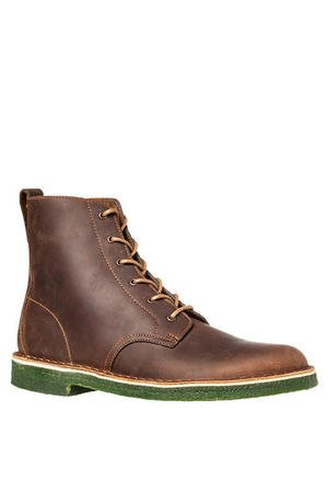 The Desert Mali Boot in Beeswax Leather & Dark Green Crepe