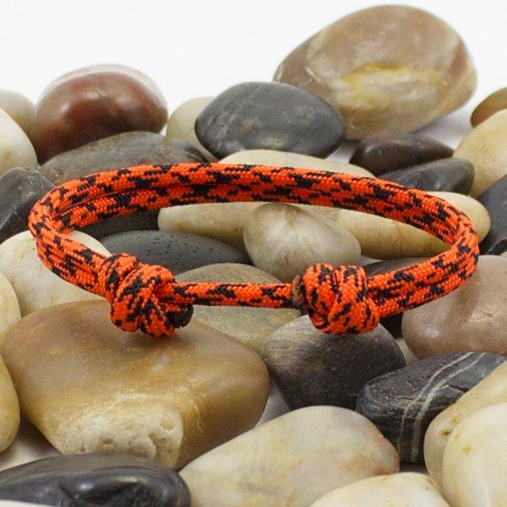 Orange Camo Minimalist Paracord Bracelet by DesignedTurning