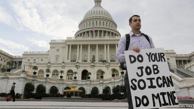 BBC News - US begins government shutdown as budget deadline passes