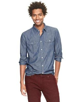 Gap x GQ Ernest Alexander Chambray Shirt