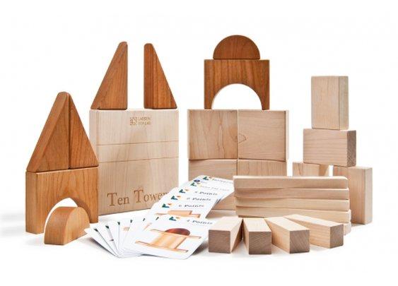 Ten Towers Puzzle - Larsen Toy Lab Ten Towers Building Game