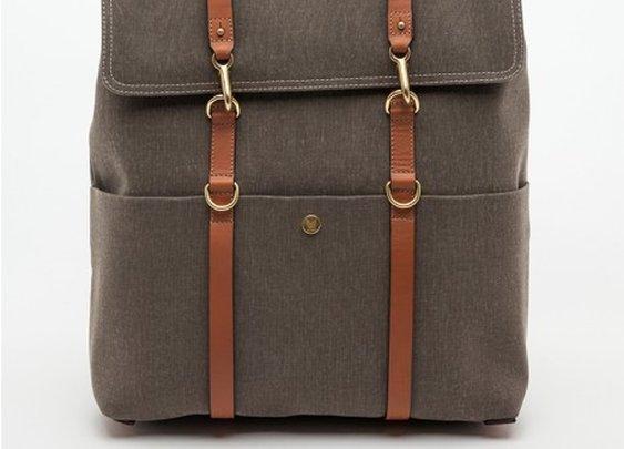 M/S Backpack Melange Brown