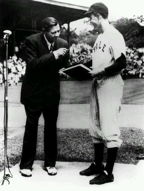 Twitter / HistoricalPics: Babe Ruth donating his ...