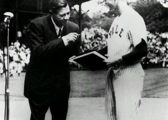 Twitter / HistoricalPics: Babe Ruth donating his ...
