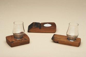 Whisky glass holders